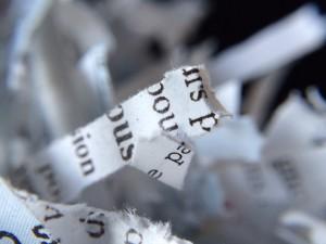 Déchiquetage de papier